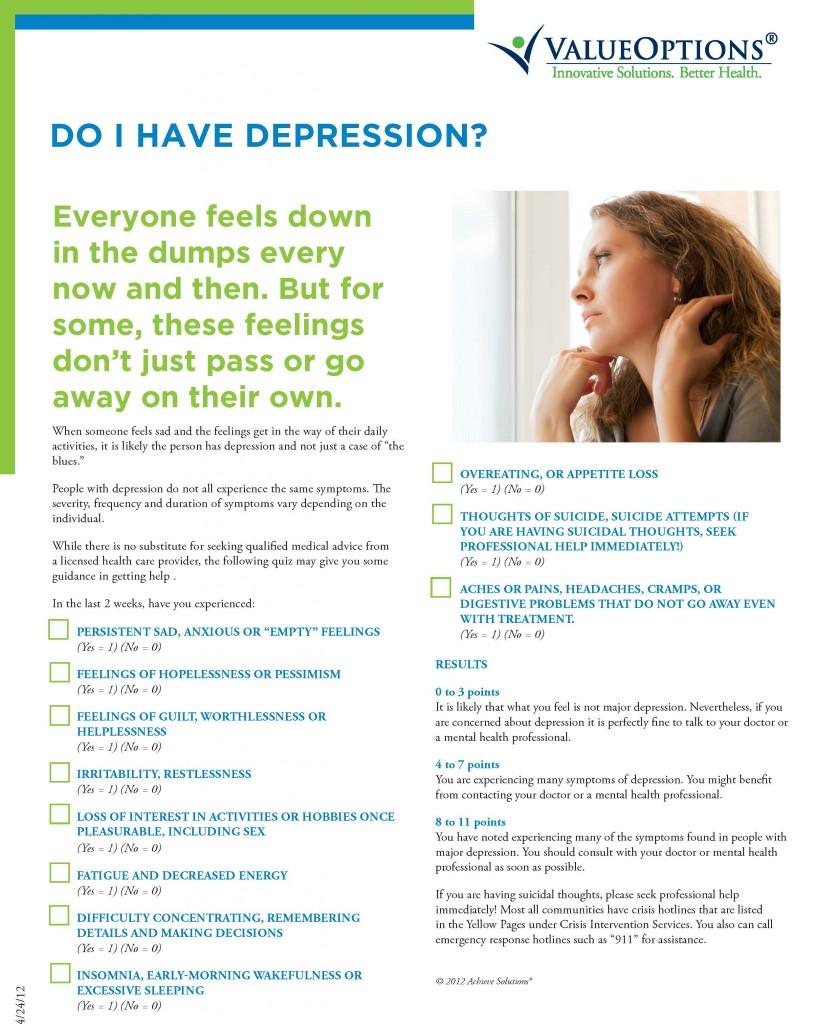 Do I have Depression