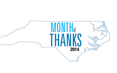 Welcome to Month of Thanks 2014