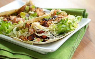 Grilled Pork Tacos with Black Beans and Salsa Fresca