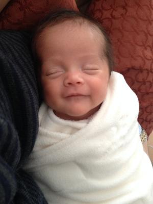 Image: Brent Garber. Baby Caroline comes home.