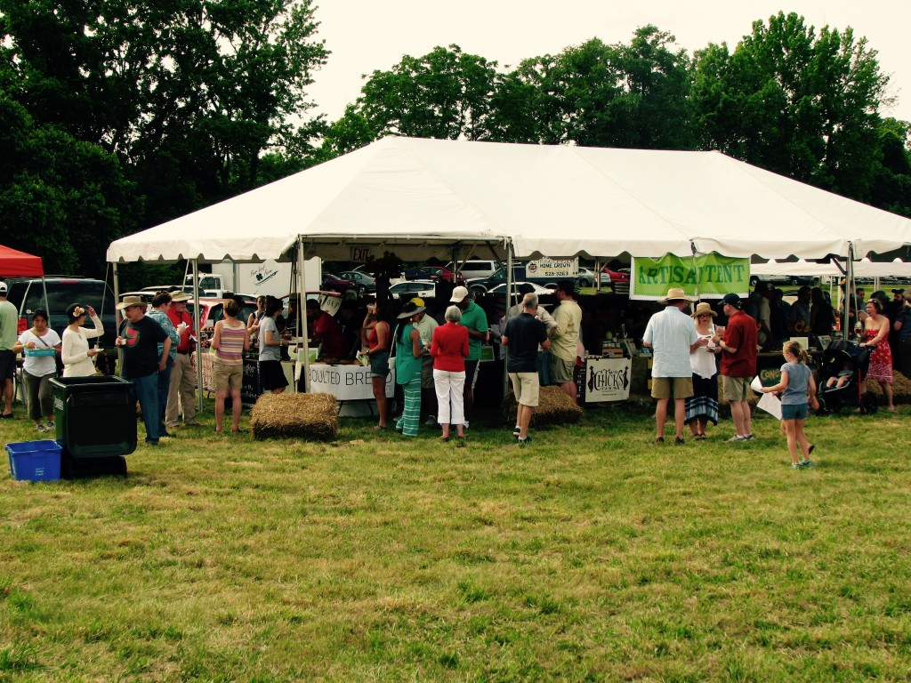 The artisan tent, where some of the magic happens.
