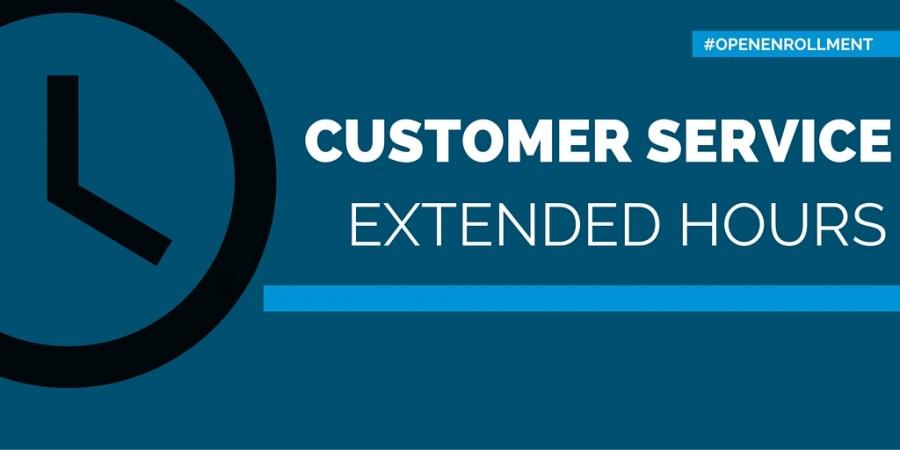 extended customer service hours point of blue. Black Bedroom Furniture Sets. Home Design Ideas