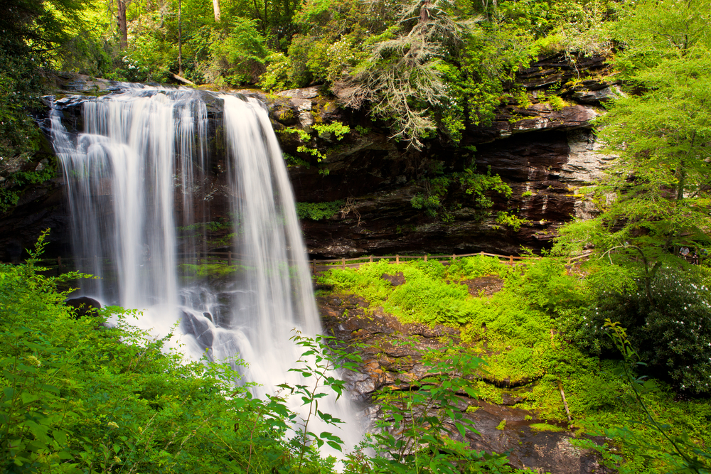 the 6 most stunning north carolina waterfalls point of blue