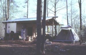 The tent that Alex and Betsy Hitt called home in the early 1980s.