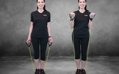 Resistance band workout for stronger arms, legs and abs