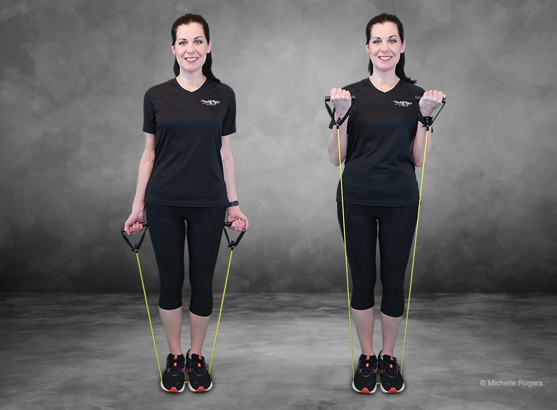 Resistance Band Workout For Stronger Arms Legs And Abs Point Of