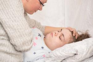 Girl having seizure