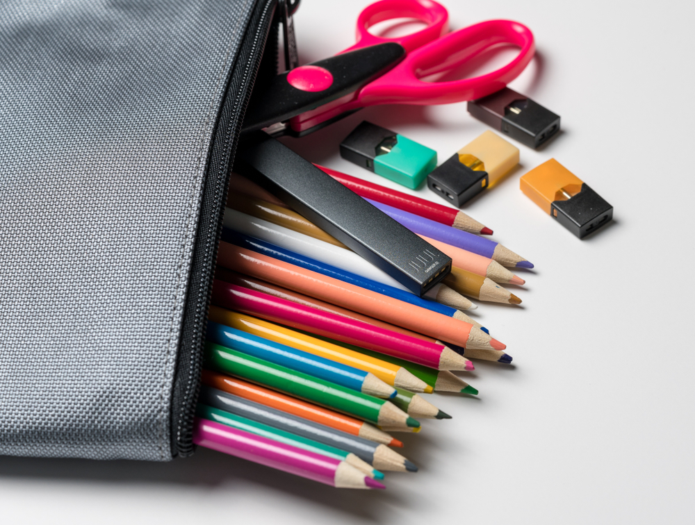 Juul cartridges fit in pencil bags and often go unnoticed.