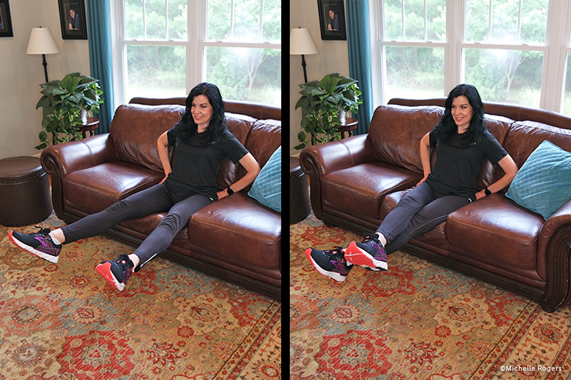 Leg exercise on the couch