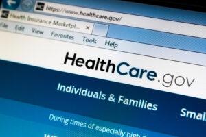 image of healthcare.gov website