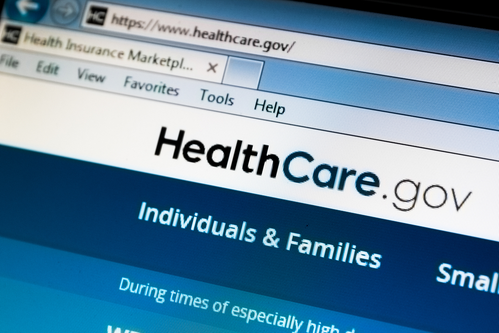 image of healthcare.gov website