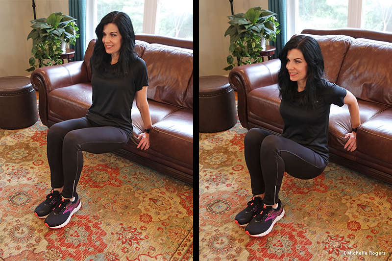 Tricep dips on the couch