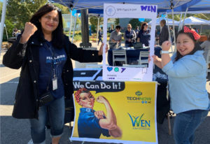 Our Women's Employee Network (WEN) at the benefits fair during Spirit Week, our annual week-long event celebrating our company, our culture, and our people.