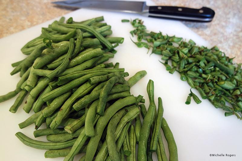 chopped green beans