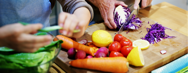 Photo of fresh produce reads