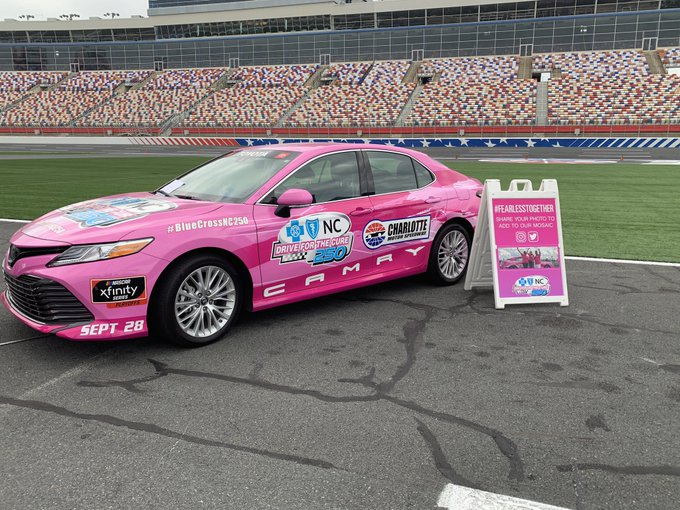 Pink race care on track