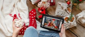 Christmas online holiday remote celebration
