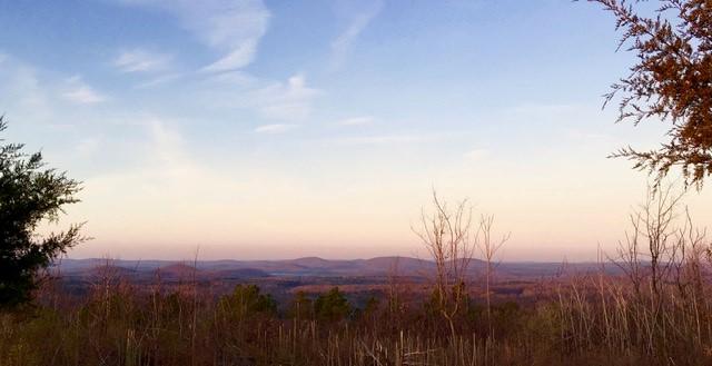 Mountain horizon at sunset